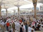 The Courtyard of Masjid An-Nabawi Following the Friday Prayer