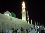 The Domes and Minarets of Masjid An-Nabawi at Night