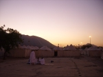 The Sun Peeking Over the Mountains of Arafah After The Fajr Prayer