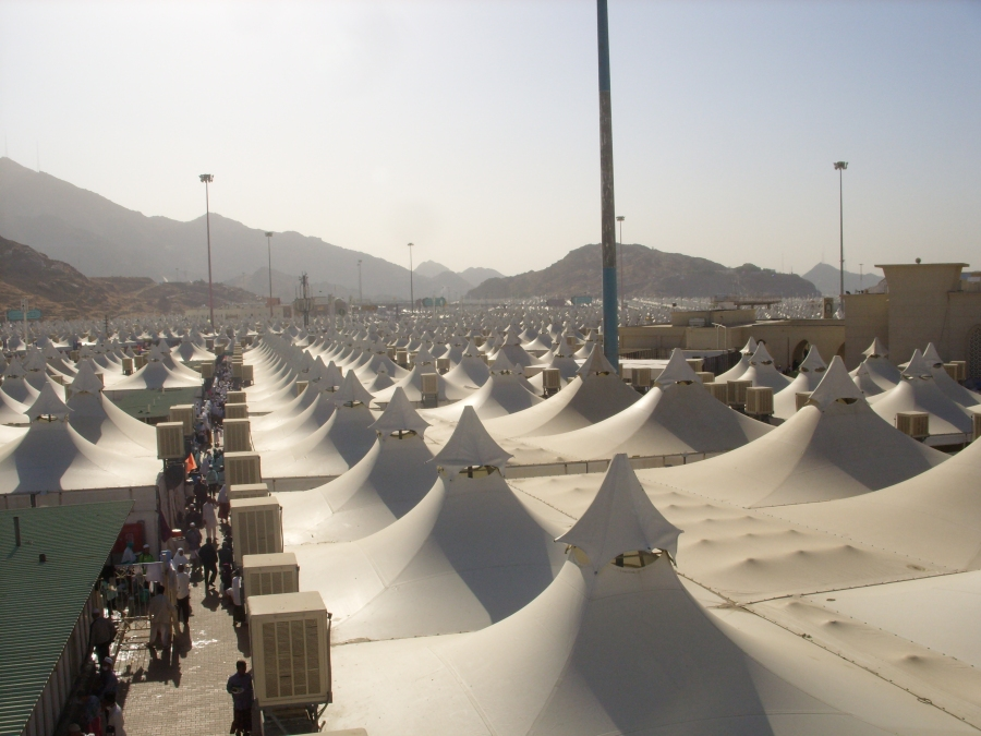 The Tents in Mina, Housing the Pilgrims During The Days of Hajj