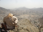 Performing Dhuhr Prayers On Top of Jab Al-Nur, The Enlightened Mountain