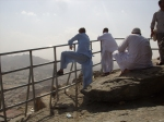 Pilgrims Look Out To Mecca From The Top Of Jab Al-Nur