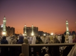 Atop the Roof of the Masjid Al-Haram, The Holy Mosque, at Sunset